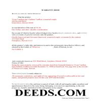 Hawaii County Completed Example of the Warranty Deed Document Page 1
