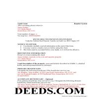 Hawaii County Completed Example of the Transfer on Death Deed Document Page 1