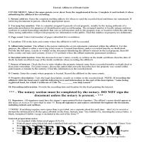 Honolulu County Affidavit of Death Guide Page 1