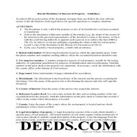 Honolulu County Disclaimer of Interest Guide Page 1