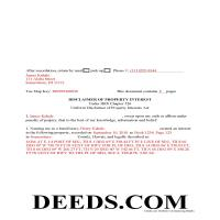 Honolulu County Completed Example of the Disclaimer of Interest Document Page 1