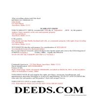 Madison County Completed Example of the Warranty Deed Document Page 1