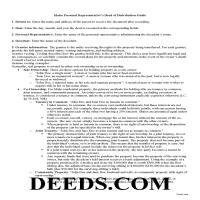 Benewah County Personal Representative Deed of Distribution Guide Page 1