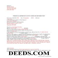 Benewah County Completed Example of the Personal Representative Deed of Distribution Document Page 1