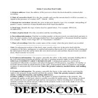 Valley County Correction Deed Guide Page 1