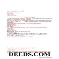 Valley County Completed Example of the Correction Deed Document Page 1