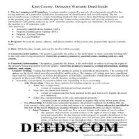 Kent County Warranty Deed Guide Page 1