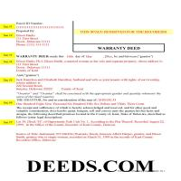Kent County Completed Example of the Warranty Deed Document Page 1