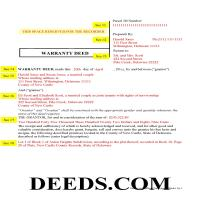 New Castle County Completed Example of the Warranty Deed Document Page 1