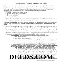 Sussex County Warranty Deed Guide Page 1