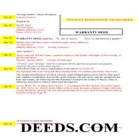 Sussex County Completed Example of the Warranty Deed Document Page 1