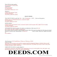 Kent County Completed Example of the Grant Deed Document Page 1