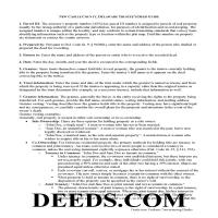 New Castle County Trustee Deed Guide Page 1