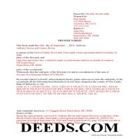 New Castle County Completed Example of the Trustee Deed Document Page 1