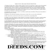 Sussex County Trustee Deed Guide Page 1