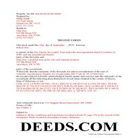 Sussex County Completed Example of the Trustee Deed Document Page 1