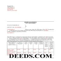 Alger County Completed Example of the Sworn Statement of Account Document Page 1