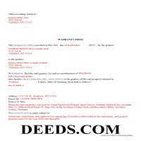 Judith Basin County Completed Example of the Warranty Deed Document Page 1