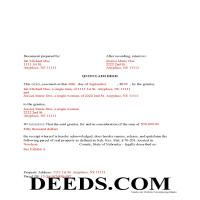 Cuming County Completed Example of the Quit Claim Deed Document Page 1