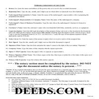Grant County Construction Lien Assignment Guide Page 1