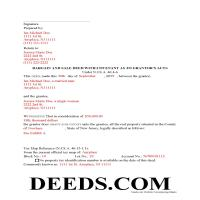 Salem County Completed Example of the Bargain and Sale Deed Document Page 1