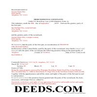 Delaware County Completed Example of the Warranty Deed Document Page 1