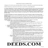 Kidder County Quit Claim Deed Guide Page 1