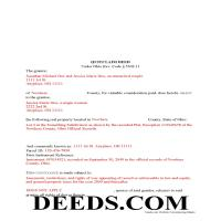 Miami County Completed Example of the Quit Claim Deed Document Page 1