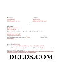 Hamilton County Completed Example of the Gift Deed Document Page 1