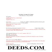 Miami County Completed Example of the Warranty Deed Document Page 1