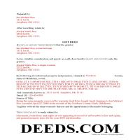 Stephens County Completed Example of the Gift Deed Document Page 1