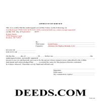 Ouachita County Completed Example of the Affidavit of Service Document Page 1