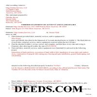 Ouachita County Completed Example of the Claim of Mechanics Lien Document Page 1