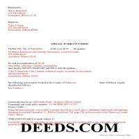 Gallatin County Completed Example of the Special Warranty Deed Document Page 1