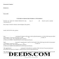 Grant County Easement Deed Form Page 1
