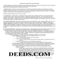 Clay County Limited Warranty Deed Excluding Assessment Guide Page 1