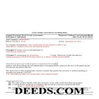 Marshall County Completed Example of the Limited Warranty Deed Excluding AssessmentDocument Page 1