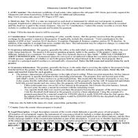 Kanabec County Limited Warranty Deed from Individual to Joint Tenant Guide Page 1
