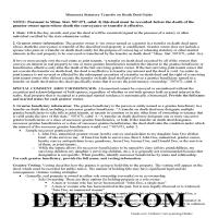 Cass County Transfer on Death Deed Guide Page 1
