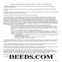 Pope County Affidavit of Indentity and Survivorship for Transfer on Death Deed Guide Page 1