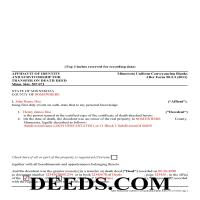 Stevens County Completed Example of the Affidavit of Indentity and Survivorship for Transfer on Death Deed Document Page 1