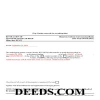 Pine County Completed Example of the Transfer on Death Revocation Document Page 1