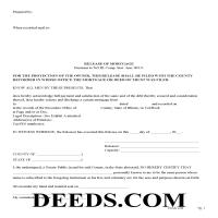 Henderson County Release of Mortgage Form Page 1