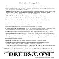 Henderson County Guidelines Release of Mortgage Page 1
