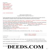 Henderson County Completed Example of the Release of Mortgage Document Page 1