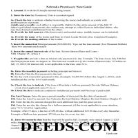 Grant County Promissory Note Guidelines Page 1