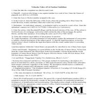 Chase County Guidelines for Notice of Lis Pendens Page 1