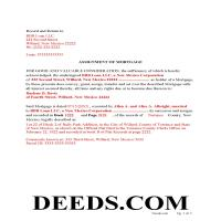 Colfax County Completed Example of the Assignment of Mortgage Document Page 1