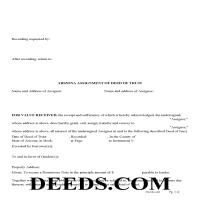 Navajo County Assignment of Deed of Trust Form Page 1