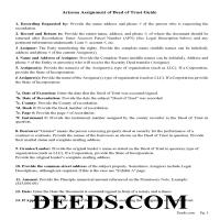 Navajo County Guidelines for Assignment of Deed of Trust Page 1